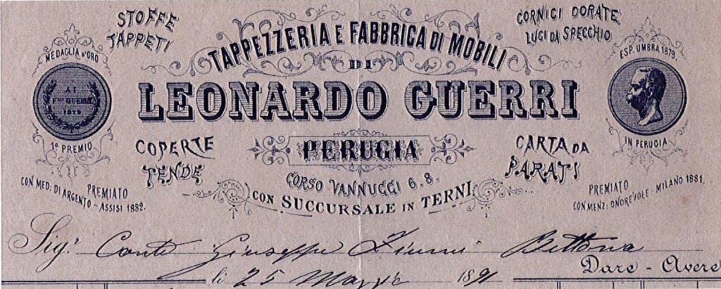 Storia dello studio Guerri - Studio Leonardo Guerri  (1891)