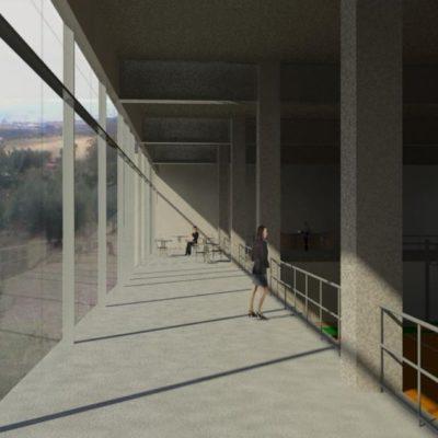 Centro Sportivo Montegabbione - vista corridoio