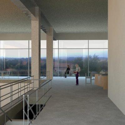 Centro Sportivo Montegabbione vista corridoio 2